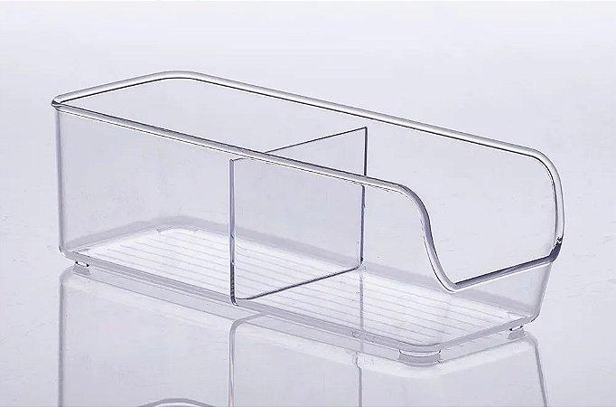 Organizador Com 2 Divisórias 28x10x9cm - 885 Transparente