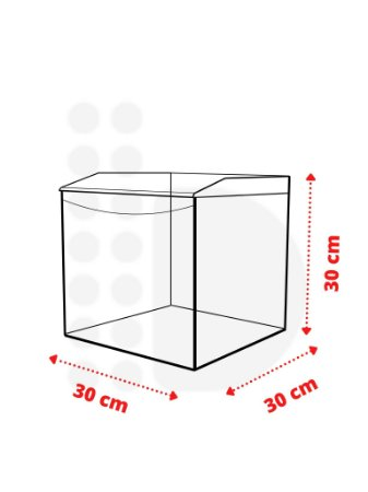Pote Expositor - 24 L (30 x 30 x 30cm)