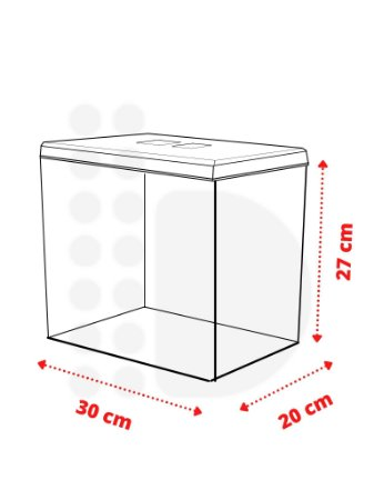 Pote Expositor - 13,8 L (30 x 20 x 27cm)