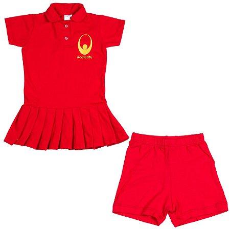 Vestido vermelho Acalanto