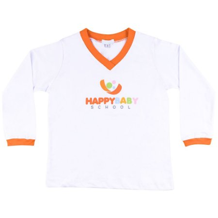 Tshirt manga longa Happy Baby School