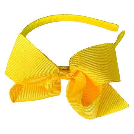 Tiara de gorgurão amarela