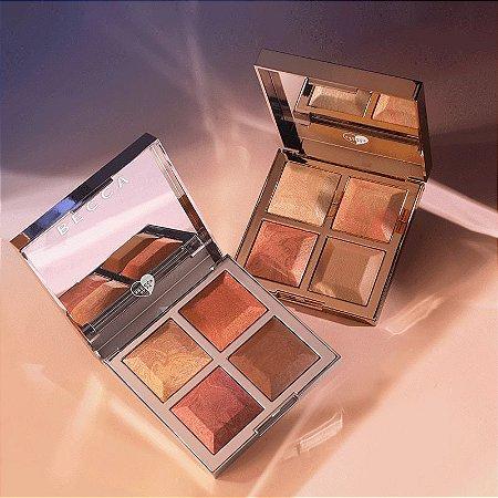 Khloé X Malika Bronze - Blush & Glow Palette  - Dourada