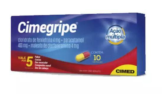 Cimegripe Com 10 Cápsulas Cimed