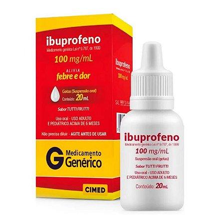 Ibuprofeno 100mg/ml Cimed Genérico Gotas com 20ml