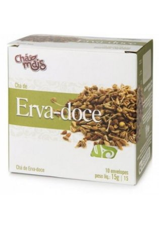 Chá de Erva-Doce 10 Sachês x 10G Chá Mais