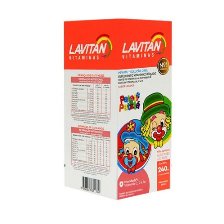 Lavitan Solução Oral Infantil Sabor Laranja