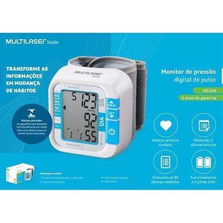 Monitor de Pressão Arterial Multillases HC-204