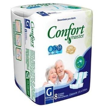 Fralda Geriátrica Confort Master G, 8 unidades
