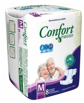 Fralda Geriátrica Confort Master M, 8 unidades