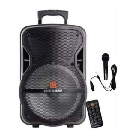 CAIXA ATIVA STAR SOUND SS 100 C/BATERIA BT/FM/SD/USB  STANER