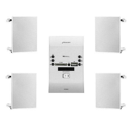 Kit Som Ambiente RD Wall Bluetooth 60W + Arandela 6 Pol Frahm