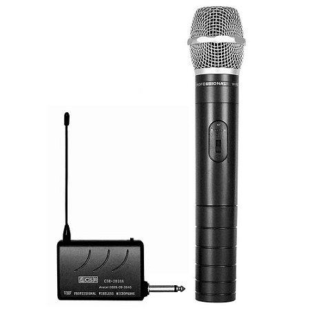 Microfone Dinâmico Receptor Sem Fio VHF 2010-CSR