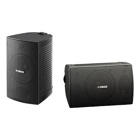 Caixas Acústicas Som Ambiente Externo 2 Vias 4 Polegadas 60W VS4 Yamaha Preto (PAR)