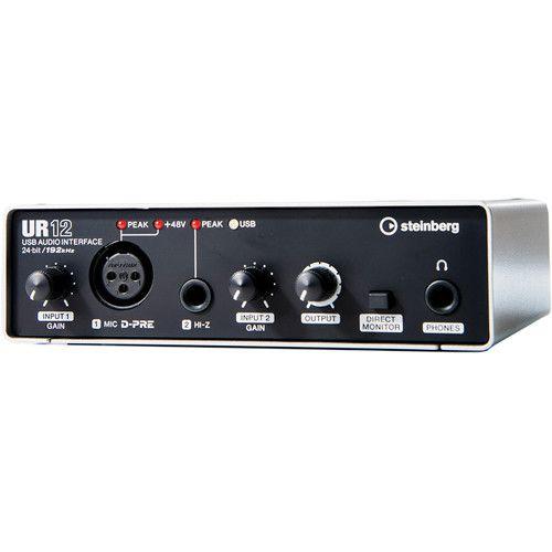 Interface De Audio Steinberg UR12 2X2 USB 2.0 Prata