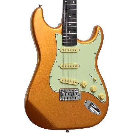Guitarra Tagima Eletrica Mgy Df/mg Tg-500 Mgy Metallic Gold