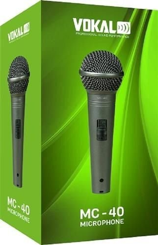 Microfone C/ Fio Mão Dinâmico Unidirecional Mc40 Vokal MC-40