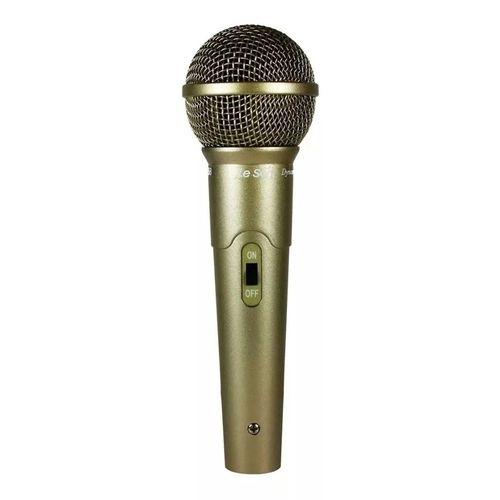 Microfone com fio profissional champanhe LS58 -  LESON
