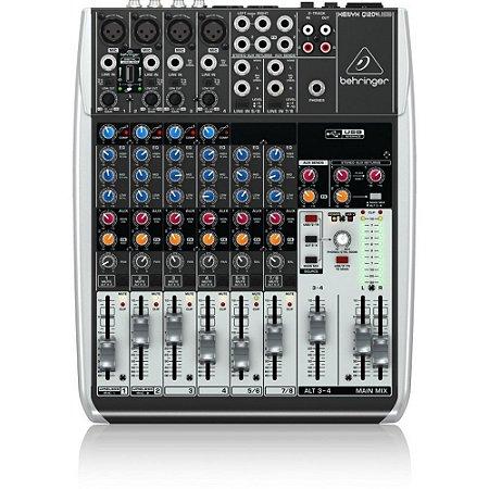 Mesa de Som Xenyx Behringer Q 1204 USB 12 Canais Analógica