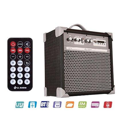 Caixa Acústica Multiuso LL AUDIO Color UP 6 Polegadas PRETA