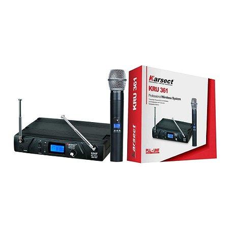 Sistema de Microfone Sem Fio Karsect KRU 361 Mão 48 Canais