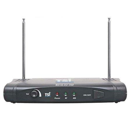 Microfone sem Fio Headset VHF - MS 125 CLI TSI