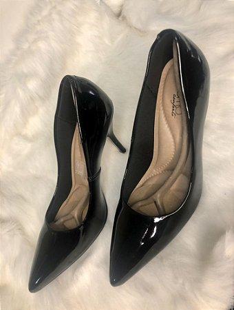 Sapato Scarpin Verniz Preto, Beira Rio Conforto