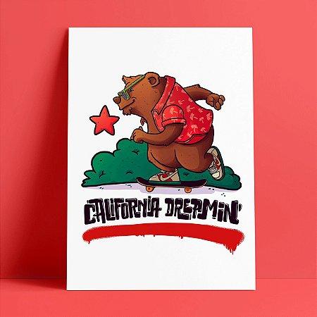 CALIFORNIA DREAMIN - Pôster A4