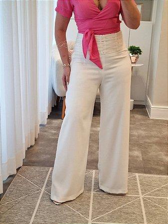 Pantalona tiras entrelaçadas