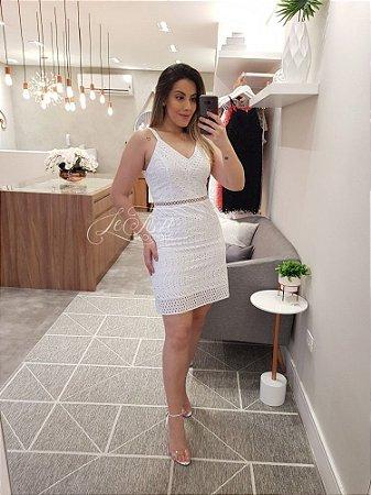 Vestido curto de laise
