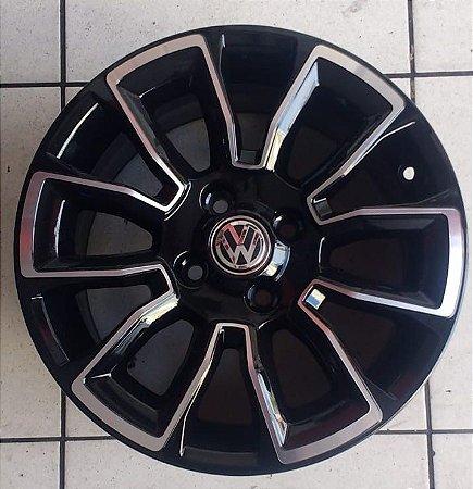Jogo de Roda Aro 15 - VW preta diamantada