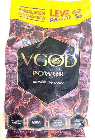 Carvão Para Narguilé Hexagonal Cocô Vgod Power 1kg