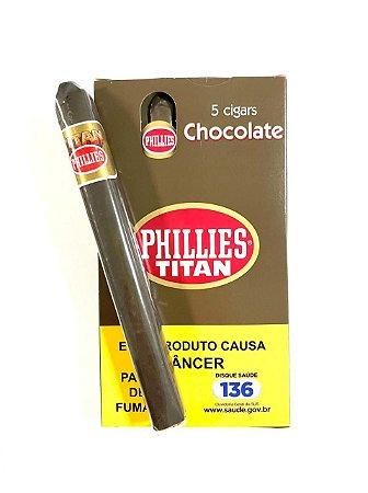 Charuto Phillies Titan Chocolate c/5 Unid