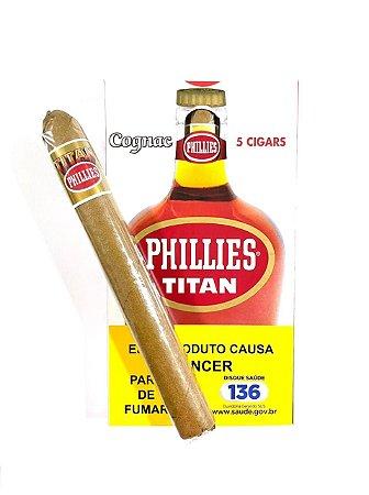Charuto Phillies Titan Conhaque c/5 Unid