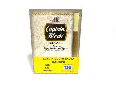 Cigarrilha Captain Black Classic (Natural) Cx 8 Und