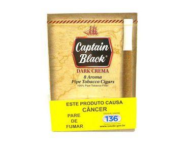 Cigarrilha Captain Black Dark Crema (Baunilha) Cx 8 Und