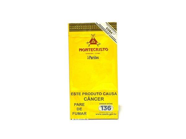 Charuto Montecristo Puritos - Cx 5 Unidade