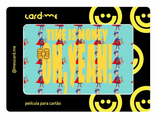 Card.me EXCLUSIVO -  TIME IS MONEY