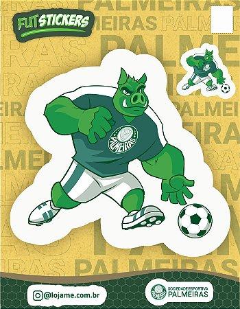 Cartela de 2 adesivos mascote PORCO - Palmeiras