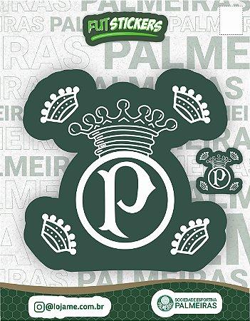 Cartela de 2 adesivos retrô do Palmeiras