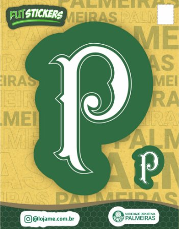 Cartela de 2 adesivos escudo retrô do Palmeiras