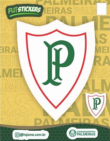 Cartela de 2 adesivos retrô do Palestra Itália - Palmeiras