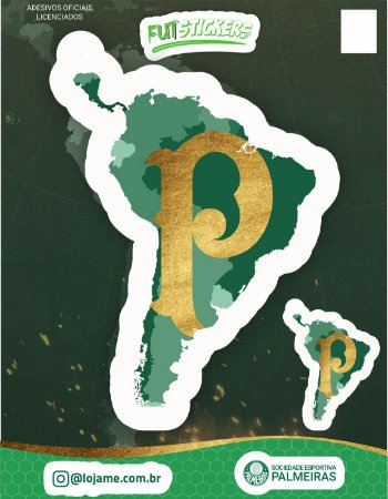 Cartela de 2 adesivos América Verde - Palmeiras