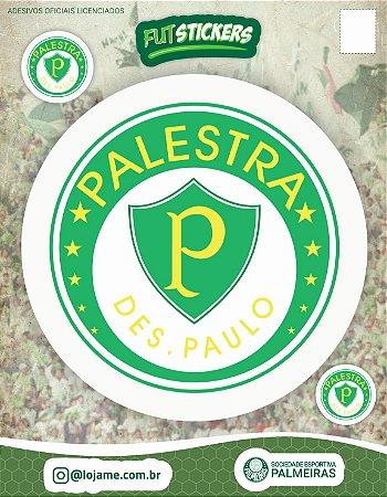 Cartela de 3 adesivos do escudo retrô do Palestra Itália - Palmeiras