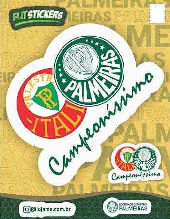Cartela de 2 adesivos CAMPEONÍSSIMO - Palmeiras