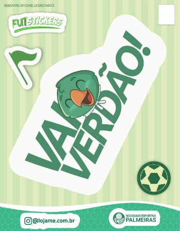 Cartela de 3 adesivos infantis do Palmeiras