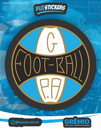 Cartela de 1 adesivo do escudo RETRÔ do Grêmio