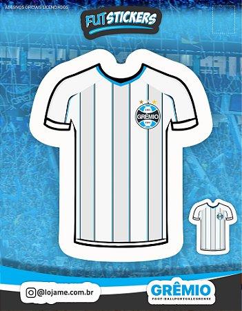 Cartela de 2 adesivos da camisa n°2 do Grêmio
