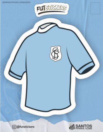 Cartela de adesivo da camisa do SANTOS