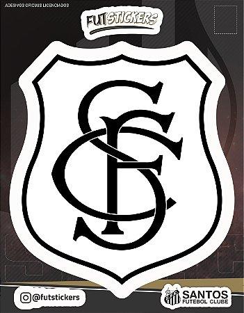 Cartela de 1 adesivo do escudo RETRÔ do Santos